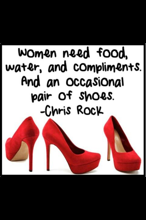 """By Chris Rock -""""occasional""""? True, if occasional means 12-20 pair of new shoes per year."""