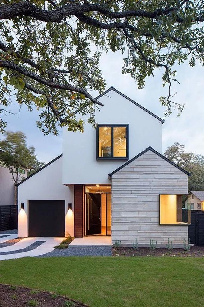 50 Scandinavian House Exterior Design Iohomedecor Com In 2020 Modern Farmhouse Exterior Modern House Exterior Facade House