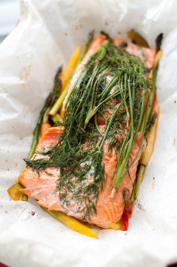 Salmon En Papilotte
