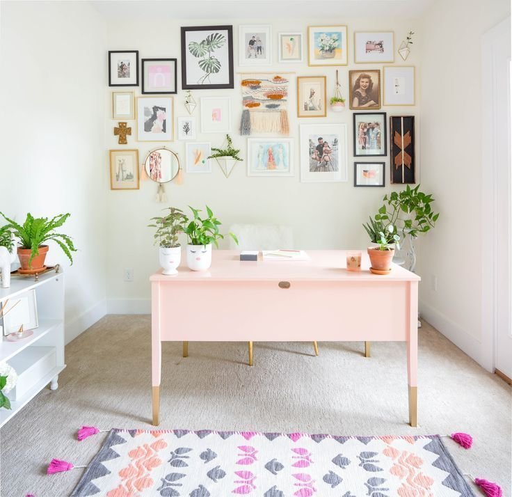 Feminine Home Office Reveal - Paisley + Sparrow