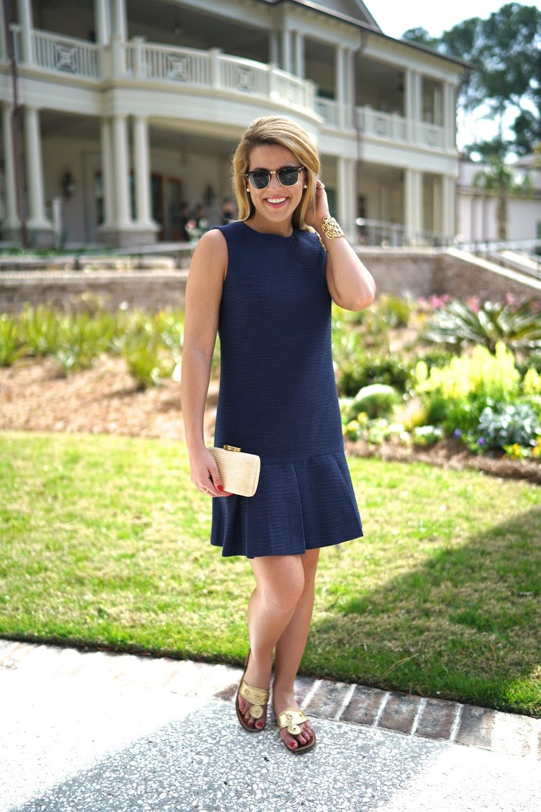 f2df72a8de1 Summer Wind  Little Blue Dress + Straw Clutch on Hilton Head Island ...