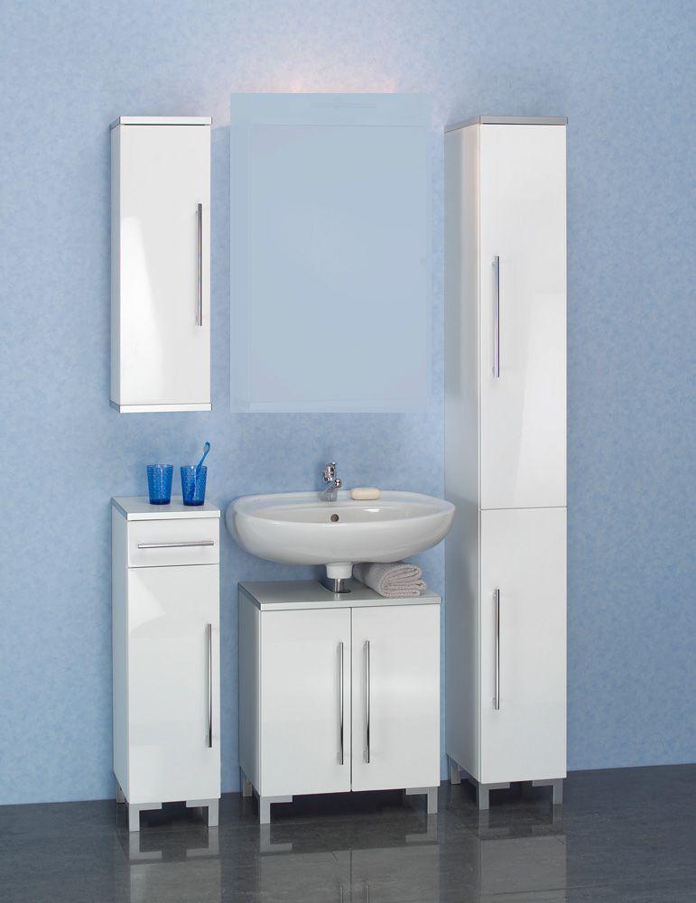 Badmöbelset ohne Spiegel Weiß (4-teilig) Jetzt bestellen unter ...