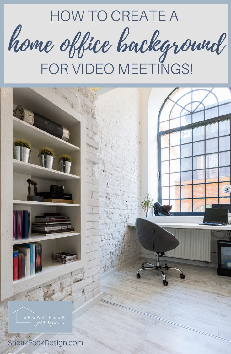 How To Create A Home Office Background Wall For Video Meetings Carla Bast Design Office Background Home Home Office Design