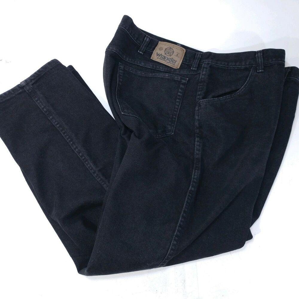 44 30 Classic X Regular Denim Wrangler Jeans Size Black Men's DH9I2E