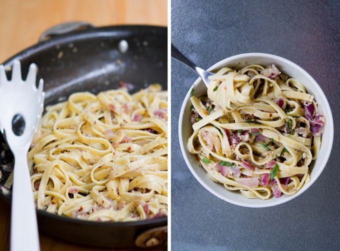 Want x 10 - Fettucini with Spicy Anchovy Sauce and Dill Bread Crumbs via @Brian - A Thought For Food