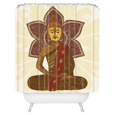 Deny Designs Valentina Ramos Sitting Buddha Shower Curtain Single