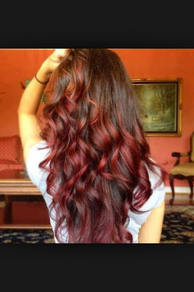 Ombre Light Brown Hair With Burgundy Red Ombre Hairstyle Ombre Hair Red Ombre Hair Ombre Hair Color Hair Hacks