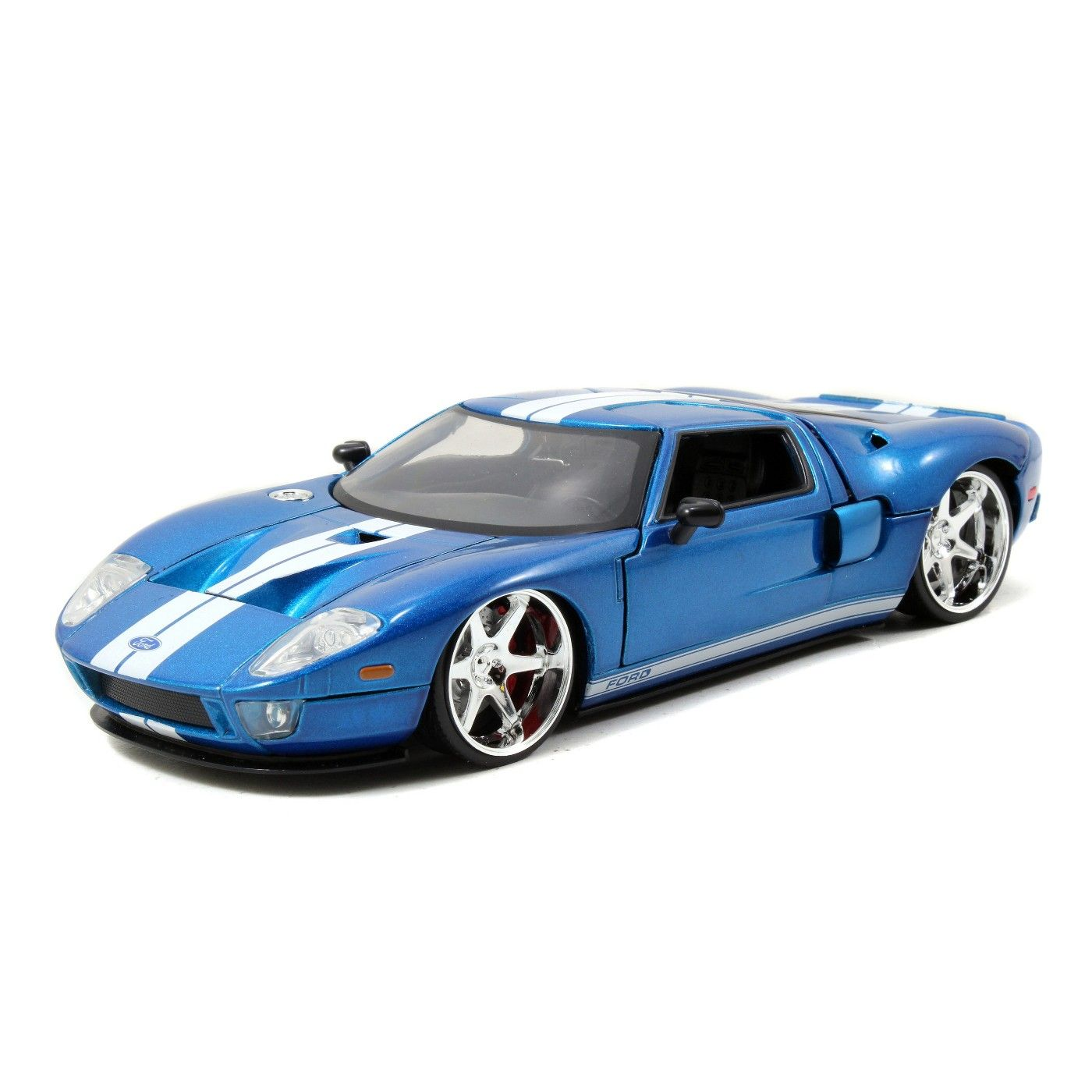 Jada Toys Fast Furious 2005 Ford Gt Die Cast Vehicle 1 24 Scale Metallic Blue In 2020 Ford Gt Diecast Cars Ford Classic Cars