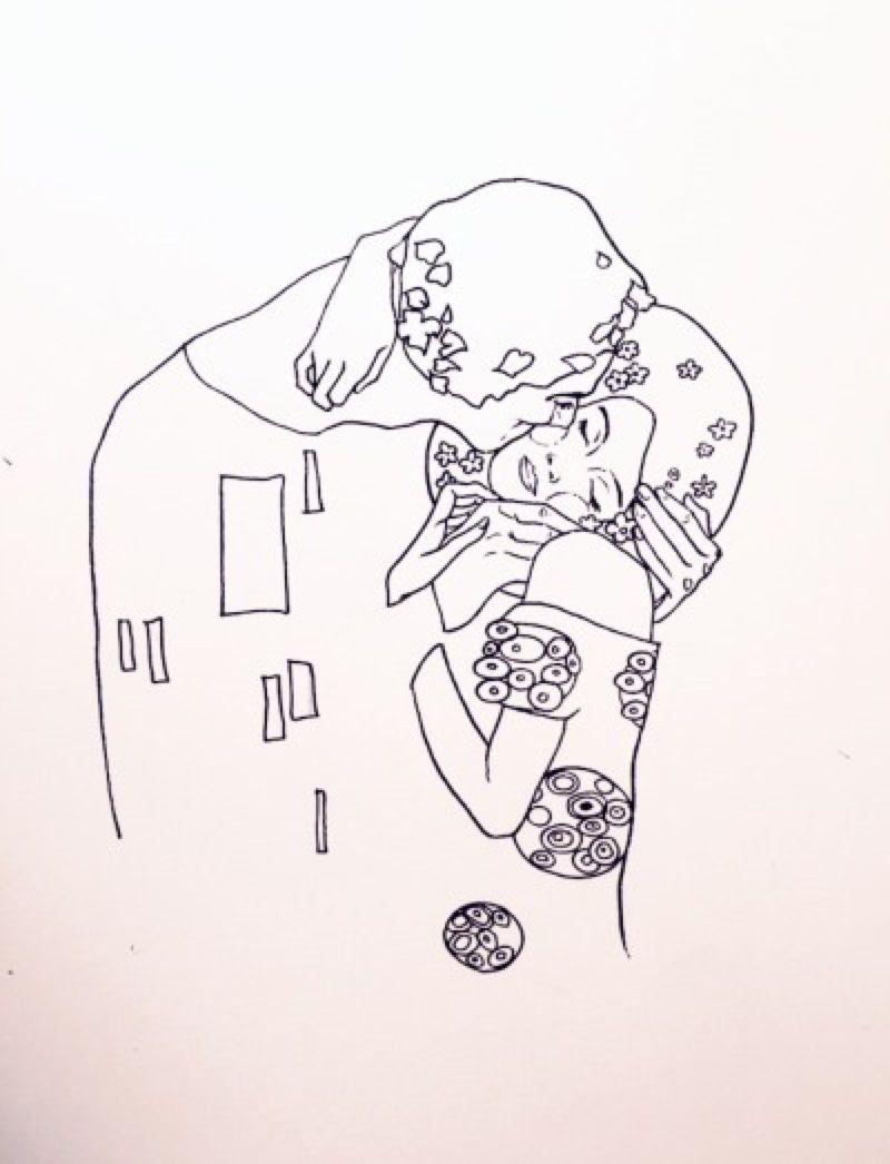 Aesthetic Astrology Tumblr Klimt Tattoo Line Art Drawings Drawings