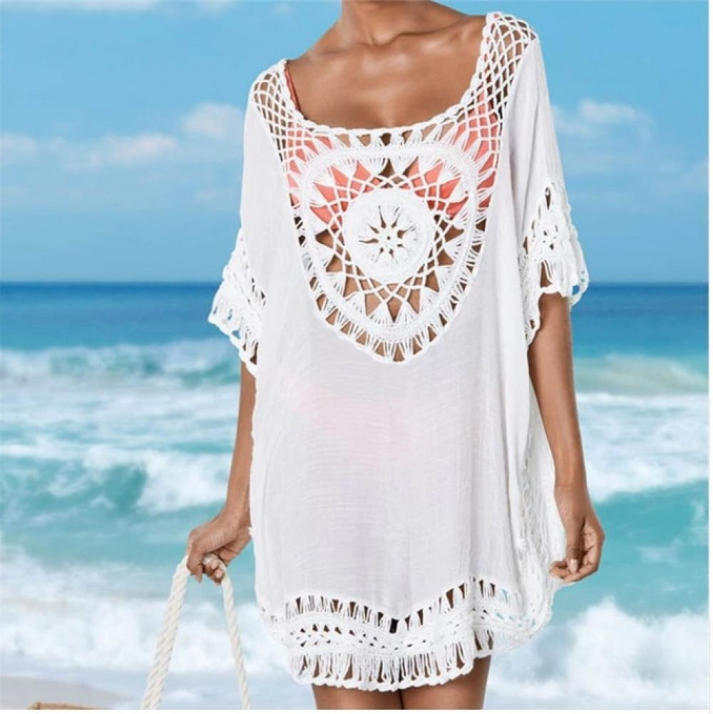 fa529b962a101 Women s Crochet Sun Cotton Beach Cover Up Price  29.99  amp  FREE Shipping  FREE Shipping