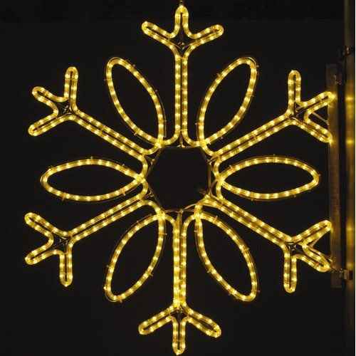 Holiday Lighting Specialists 36  Pole Decoration Single Loop Snowflake in Warm White. HLS1370 Features  sc 1 st  Pinterest & Holiday Lighting Specialists 36