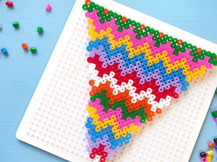 DIY Hama Bead Bunting - Paper and Pin