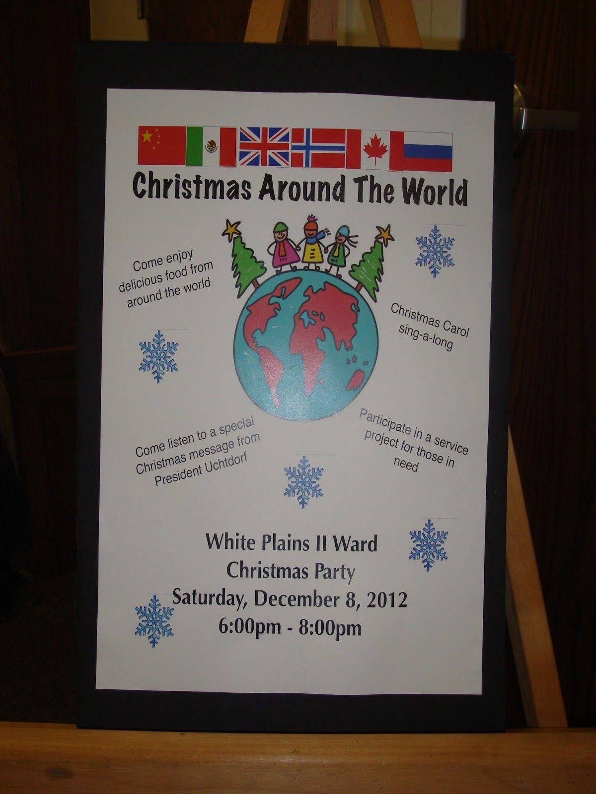 Around The World Dinner Party Ideas Part - 23: Ward Christmas Party Ideas: Christmas Around The World U2026