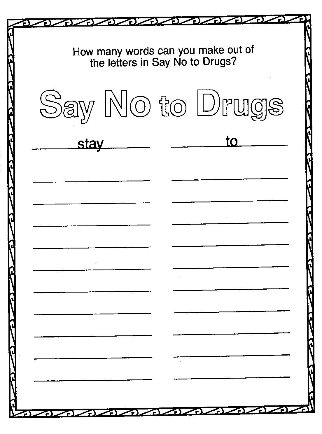 Red Ribbon Week Coloring Pages Free 05