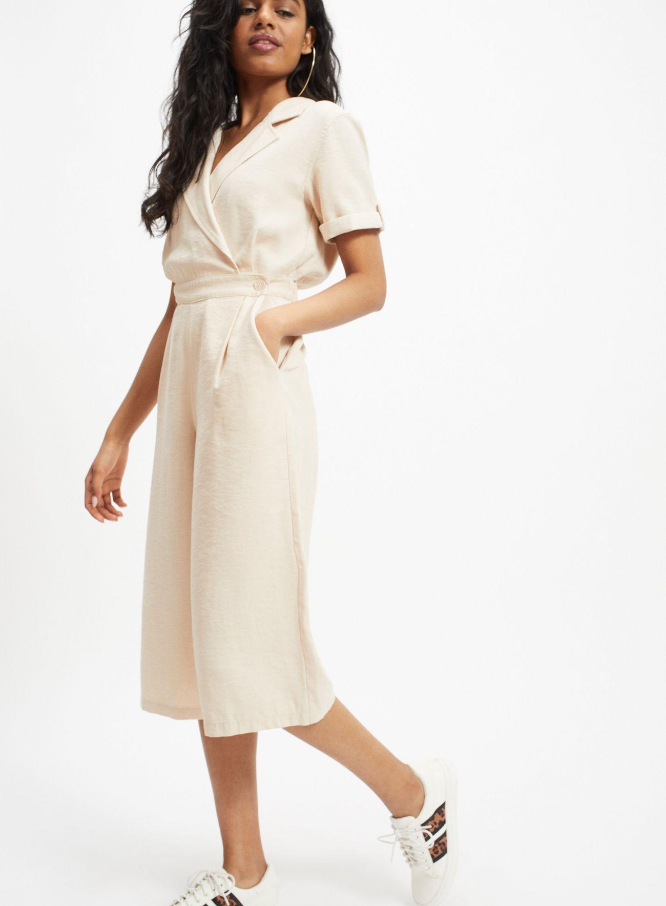 f7d647c24989b PETITE Ivory Tencel Utility Jumpsuit in 2019   Fashion Under £50   Dresses,  Dresses for work, Fashion