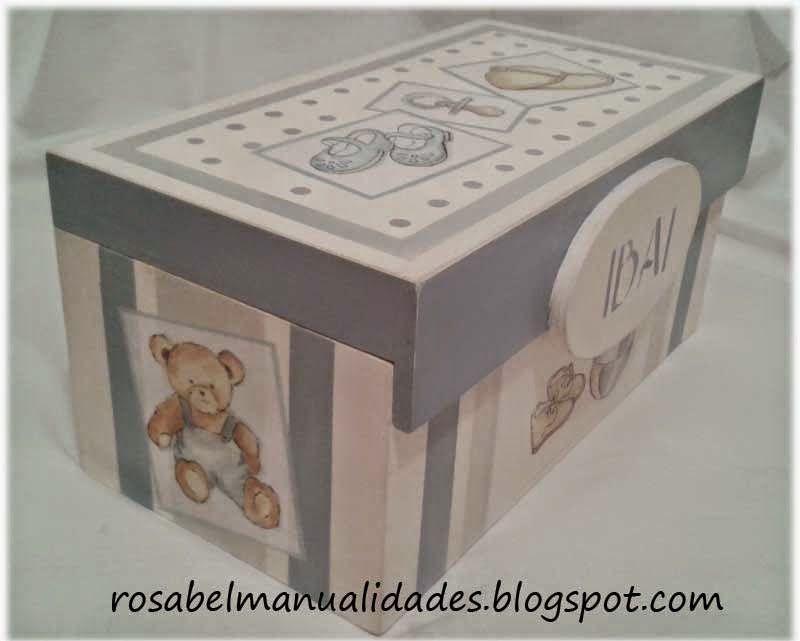 Cajas decoradas con decoupage