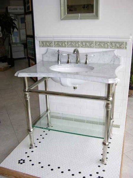 Console Sink With Metal Legs - Foter | Bathroom sink ...