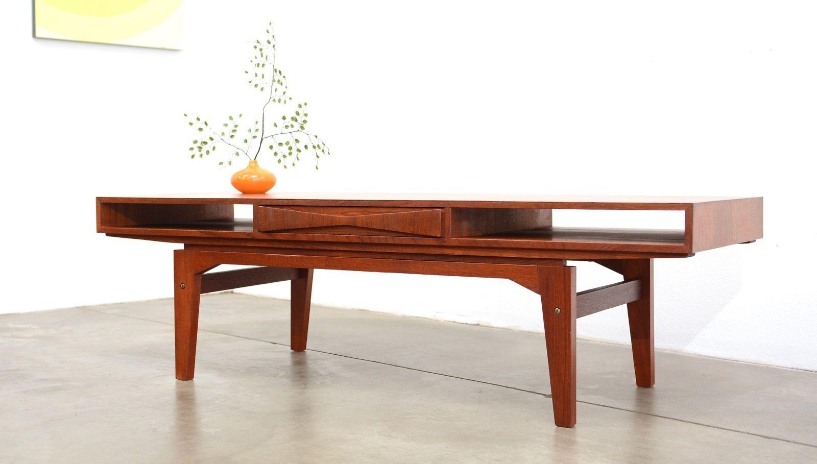 1960s Danish Modern Ew Bach Teak Coffee Table Mid Century Vintage Eames Mid Century Coffee Table Teak Coffee Table Vintage Eames [ 909 x 1600 Pixel ]