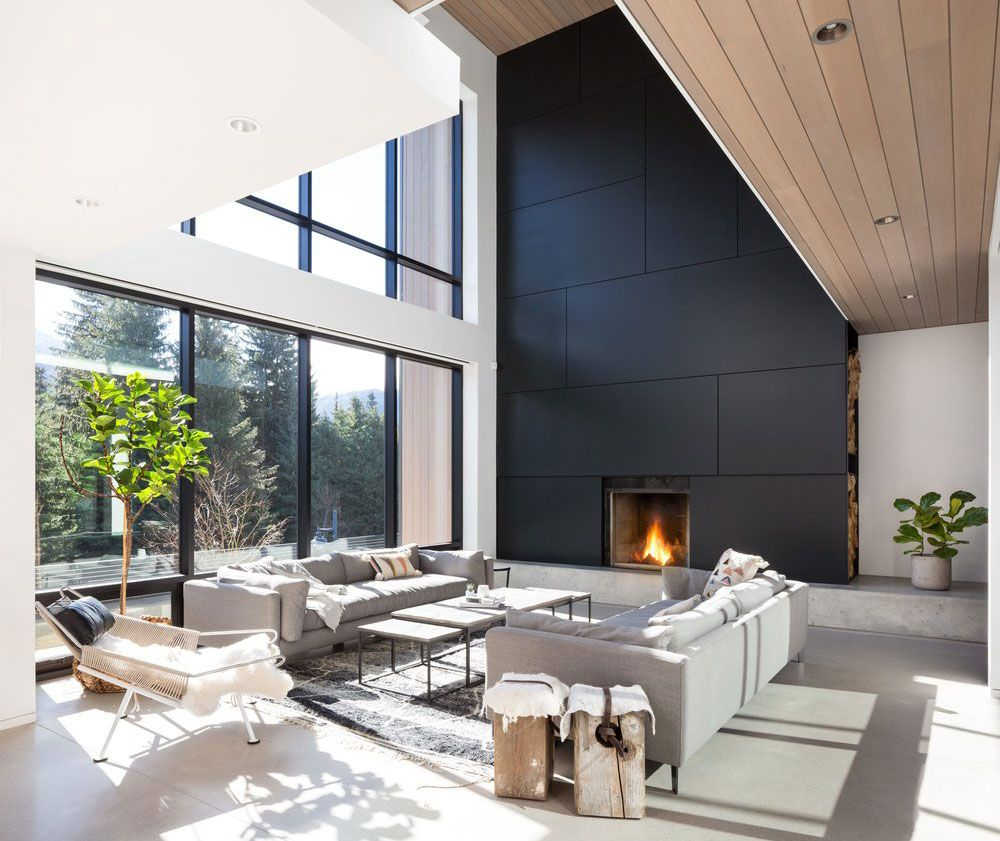 Photo of 〚 Beautiful modern house with fireplace in ski resort in Canada 〛 ◾ Photos ◾ Ideas ◾ Design