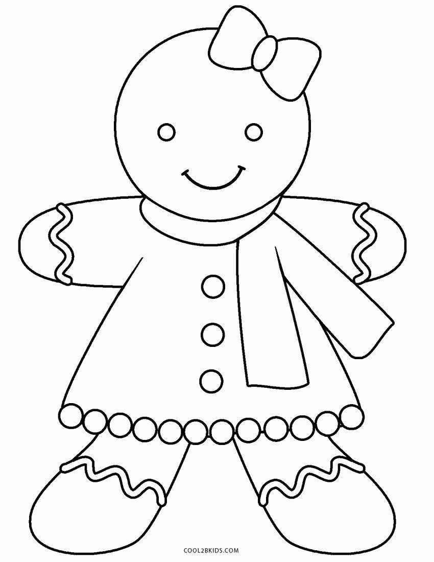 Gingerbread Man Coloring Page Fresh Free Printable Gingerbread Man