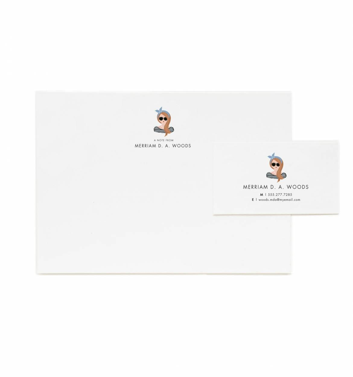 Personalized Stationary Flat Notes and Calling Cards - Pick your own ...