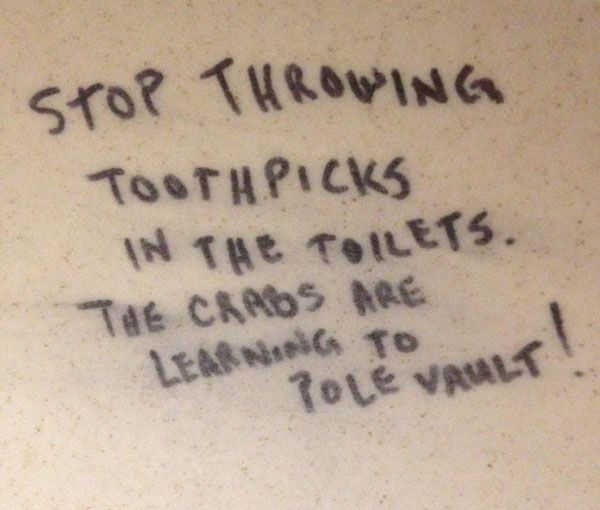 Funny Bathroom Wall Graffiti the funniest bathroom stall graffiti. (19) | humor | pinterest