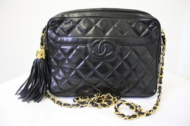 90 S Chanel Black Quilted Lambskin Camera Bag A Classic Vintage Chanel Bag Chanel Tassel Bag Vintage Chanel