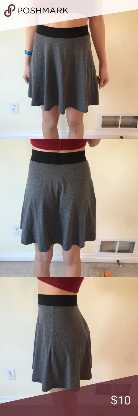Grey high waisted skirt | D, Grey and Skirts