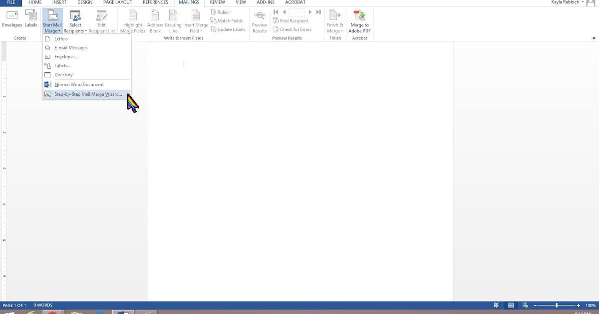 The Excel Spreadsheet To Be Used In The Mail Merge Is Stored On Your Local Machine You Can Do It From Th Mail Merge Microsoft Word Document Excel Spreadsheets