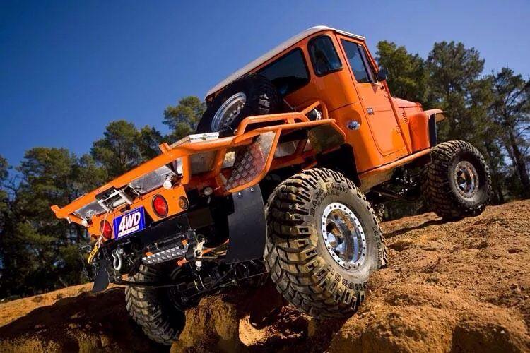 Orange Fj45 Beast Toyota Land Cruiser Fj40 Fj45 Fj55