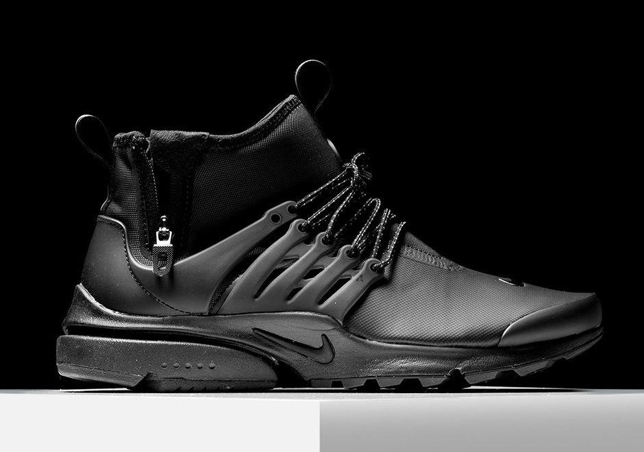 Nike Air Presto Mid Utility Triple Black 859524 003 Toms Shoes For Men Best Sneakers Boots Men