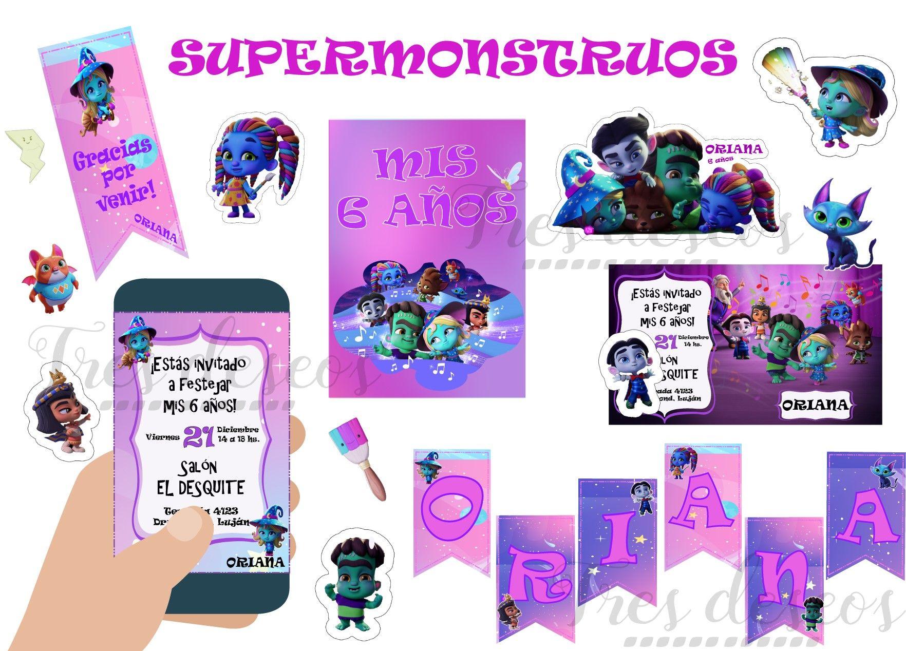 Supermonstruos Super Monsters Temática Diseños E Imágenes