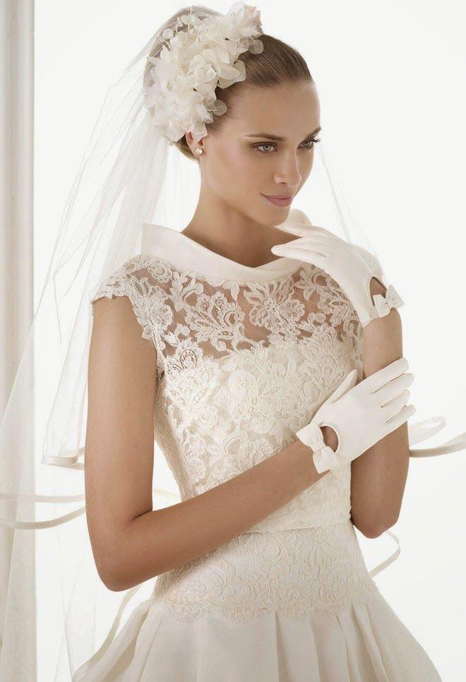 hermoso cuello para un vestido de novia excelente idea | Wedding ...
