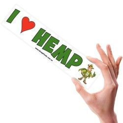 I Love HEMP – sticker!