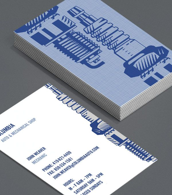 Mechano: mechanics, repair workshops, car enthusiasts, and garage workers will appreciate these artistic Business Cards. Attractive and stylish, these cards show that you genuinely care about the final product. #moocards #luxebymoo #businesscard