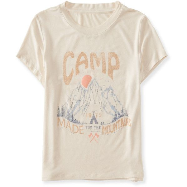 Aeropostale Cape Juby Camp Graphic T ($10) ❤ liked on Polyvore featuring  tops,