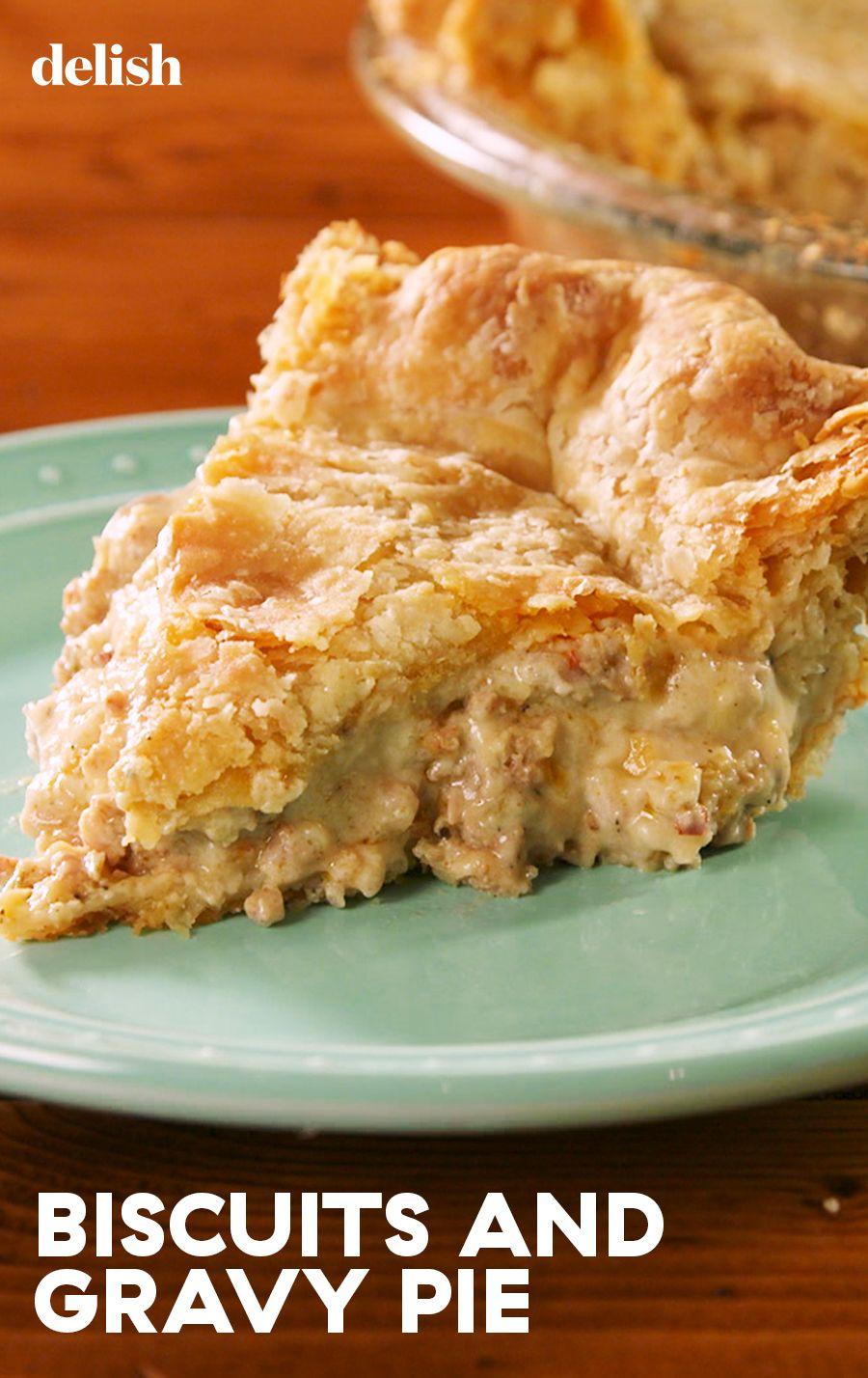 Biscuits And Gravy Pie #comfortfoods