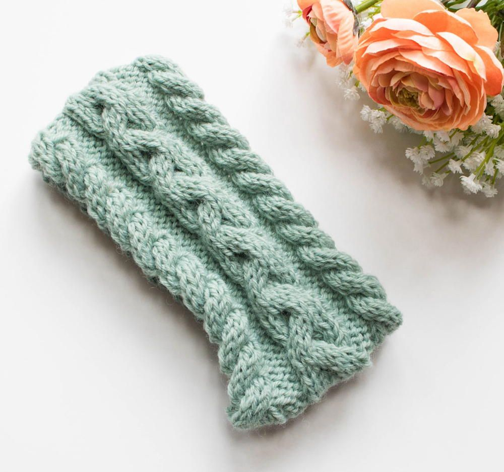 Minty Morning Headband | Knitted headband, Crochet and Knit crochet