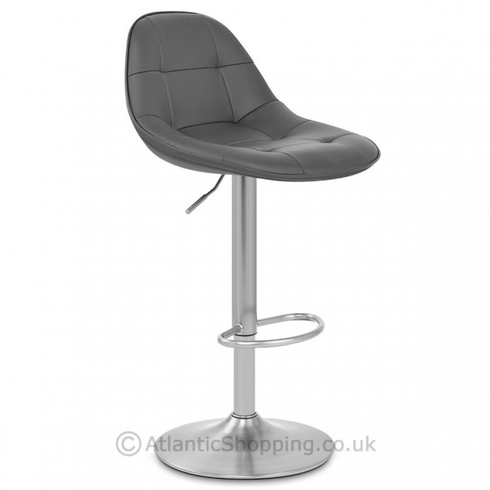 Clearance Milo Brushed Faux Leather Kitchen Breakfast Bar Stool Was 59 99 Grey Steel Bar Stools Bar Stools Stool