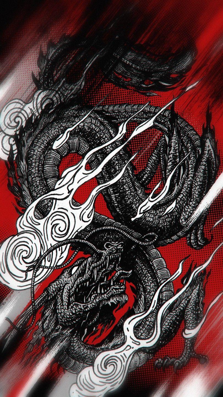 Dragon Wallpaper Japanese Artwork Japanese Wallpaper Iphone Dragon Wallpaper Iphone Tattoo wallpaper 4k iphone