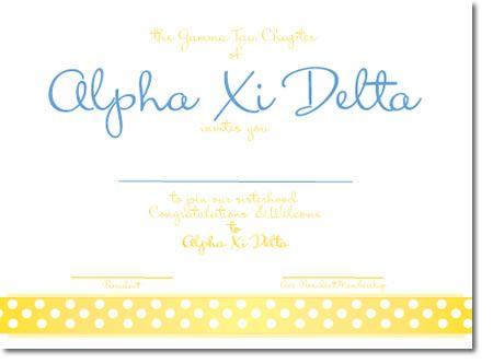 Cute alpha xi delta bid day invitation personalized for your cute alpha xi delta bid day invitation personalized for your sorority recruitment stopboris Choice Image