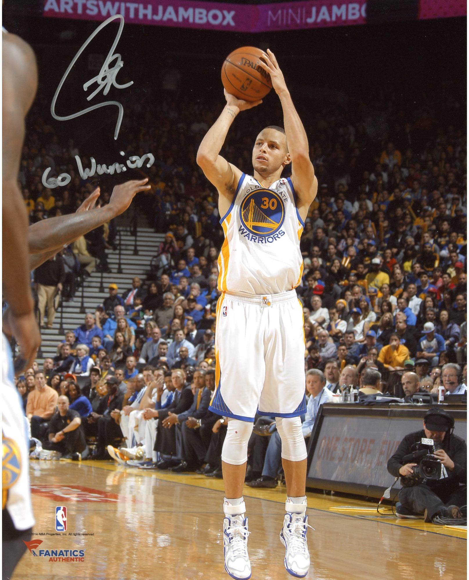 82d279d0d272 Stephen Curry Golden State Warriors Autographed 8