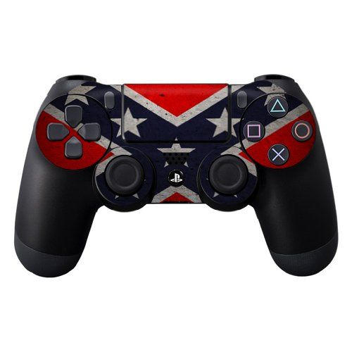 Protective Vinyl Skin Decal Cover for Sony PlayStation DualShock 4 Controller Sticker Skins Rebel Flag - http://androidizen.com/shop/protective-vinyl-skin-decal-cover-for-sony-playstation-dualshock-4-controller-sticker-skins-rebel-flag/