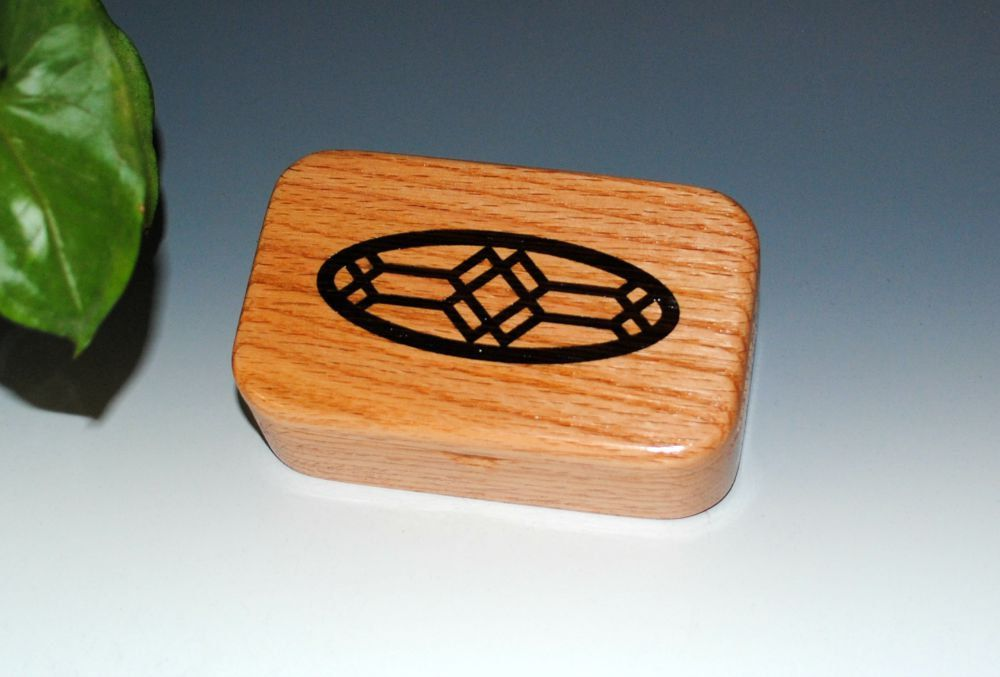 New to BurlWoodBox on Etsy: Solid Red Oak Handmade Wooden Trinket Box With Inlaid Art Deco Design of Wenge - Small Gift Box Treasure or Trinket Box - USA Made Wood Box (28.00 USD)