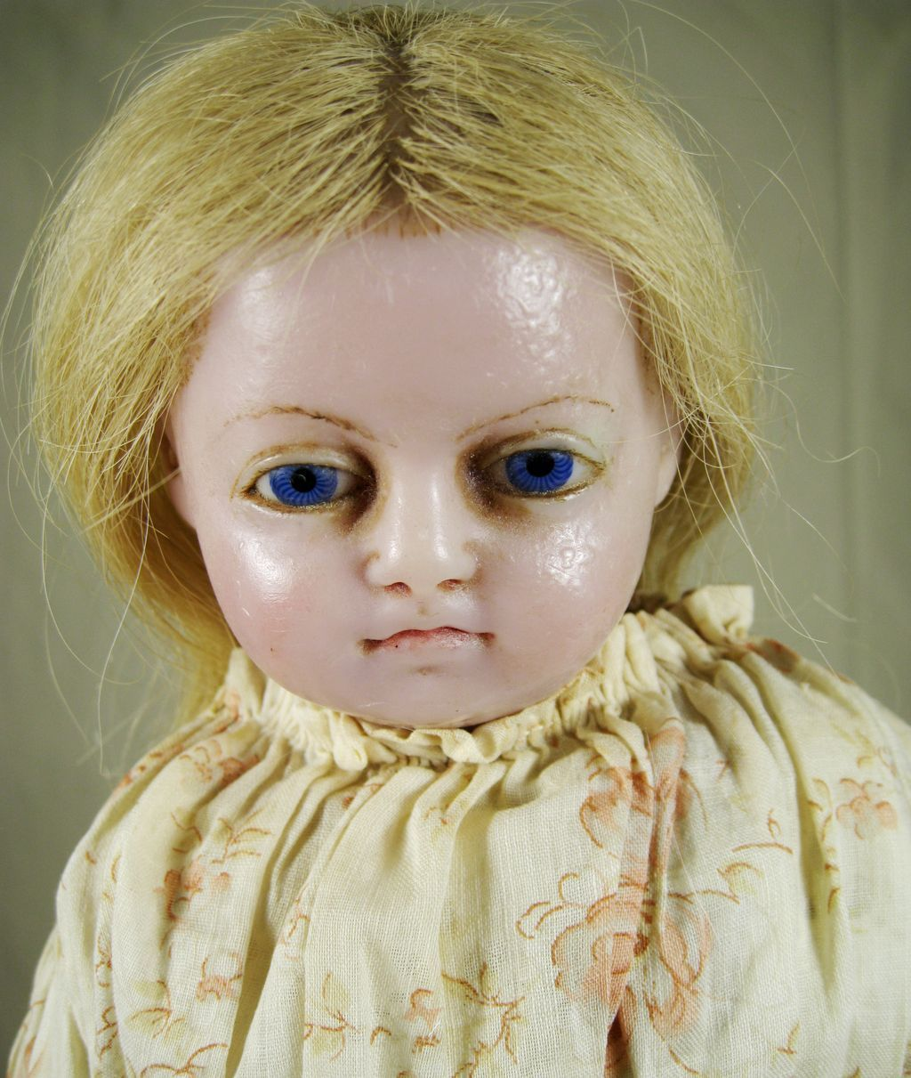 English Antique Poured Wax Doll