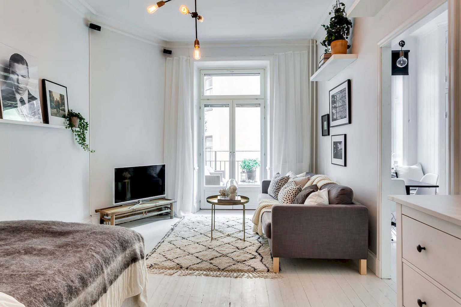 55 Inspiring Grey Studio Apartment Decorating Ideas on a Budget ...