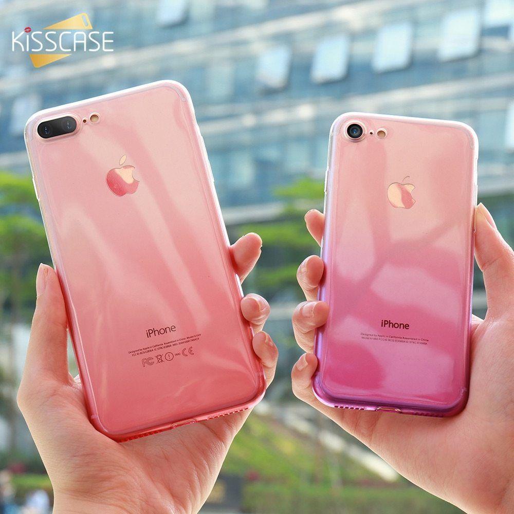 d5271556794 Soft Gradient Silicone Case iPhone X XS 8 7 6 6S Plus 5 5S SE Ultra Slim  Bumper #KISSCASE