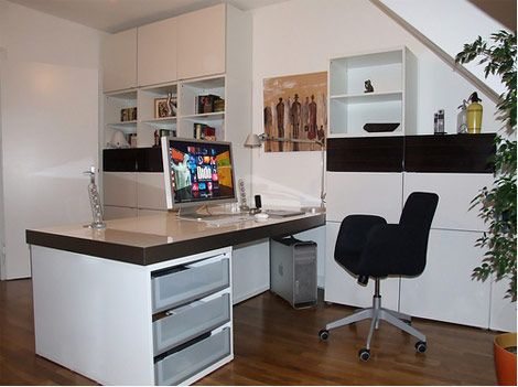 Schreibtischplatte ikea  Album - 11 - Gamme Besta (Ikea) Bureaux, bibliothèques, réalisations ...