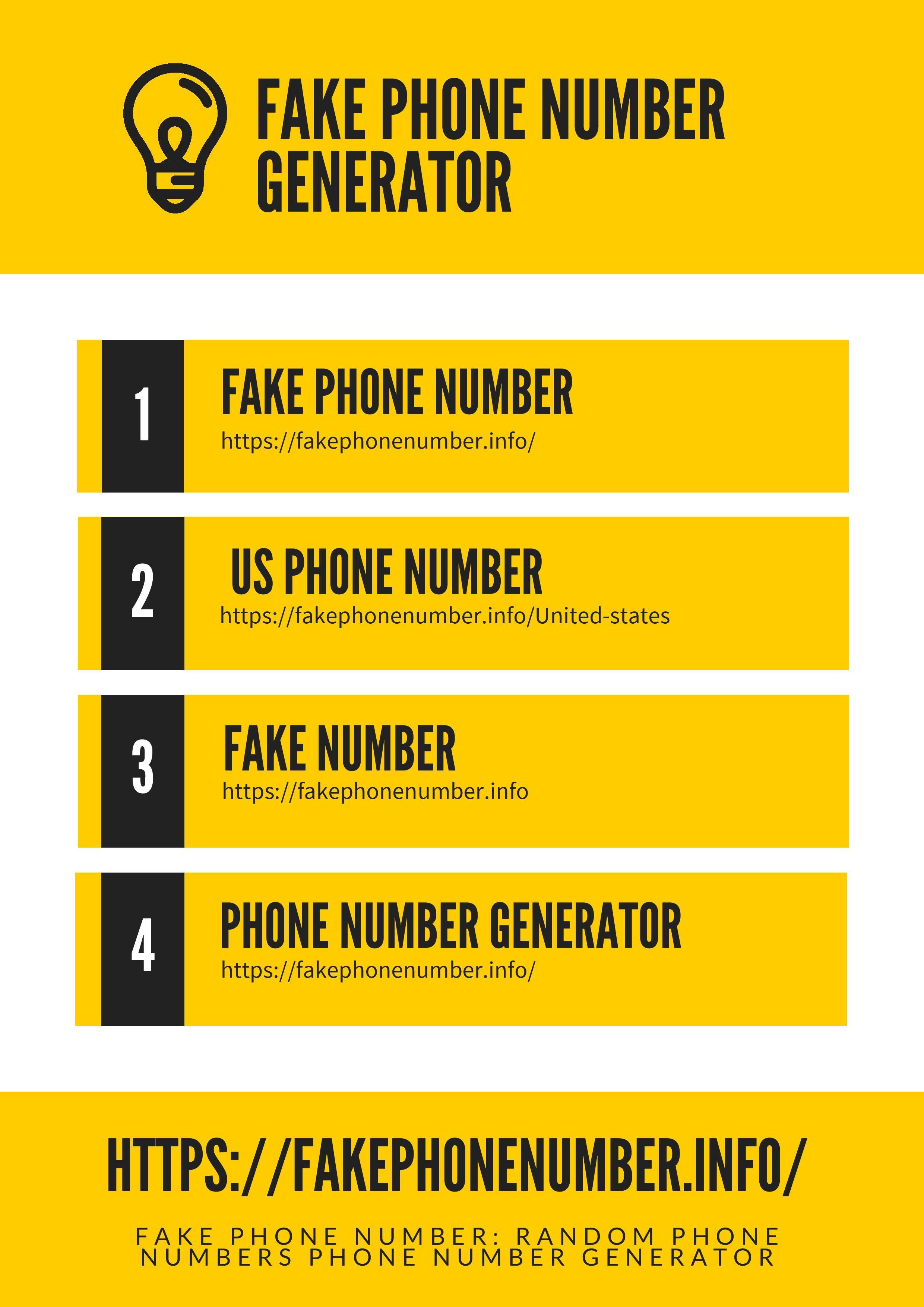 Fake phone number random phone numbers phone number