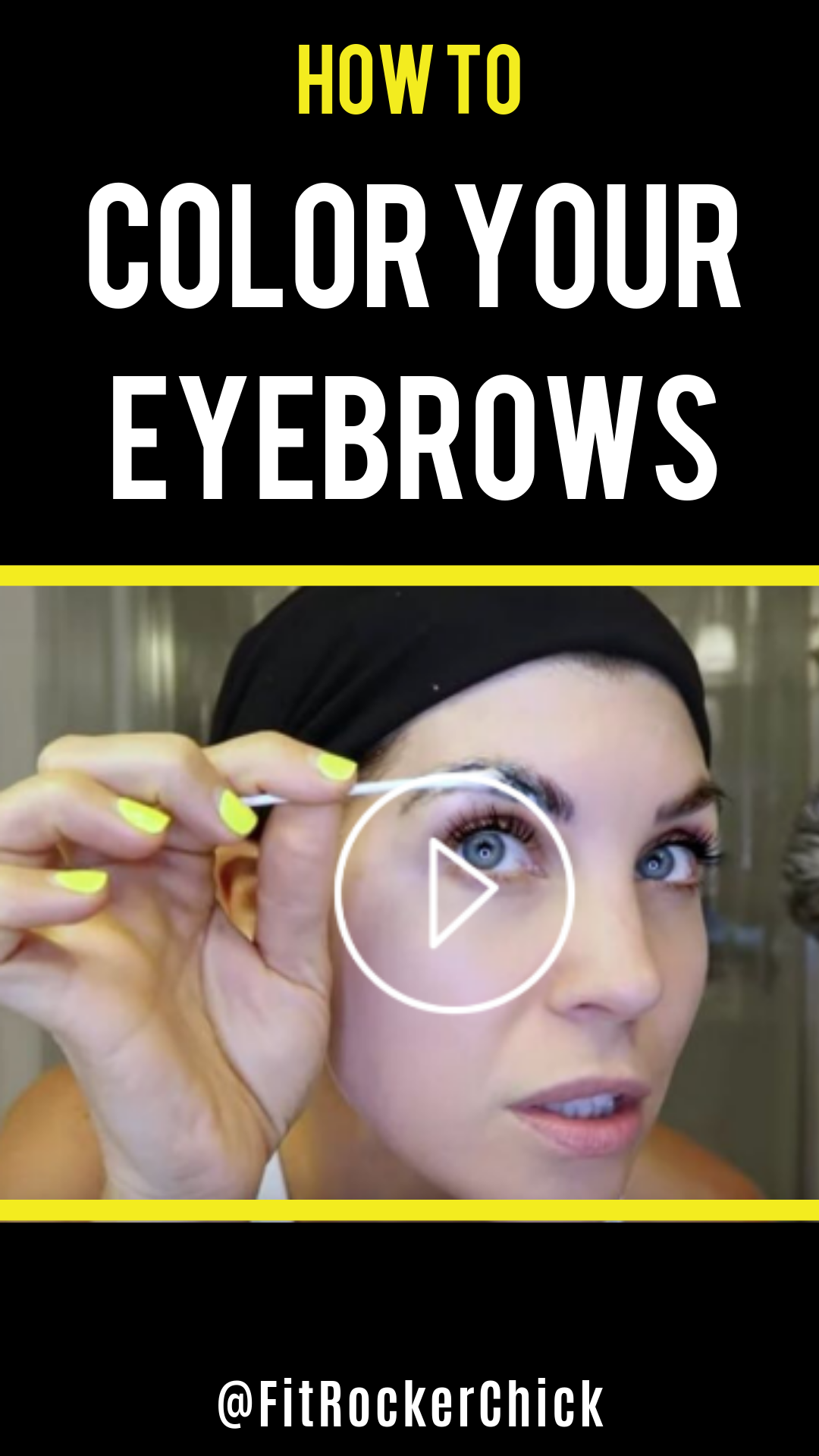 How to tint and color your eyebrows at home! Step by step